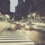 New York street scene.