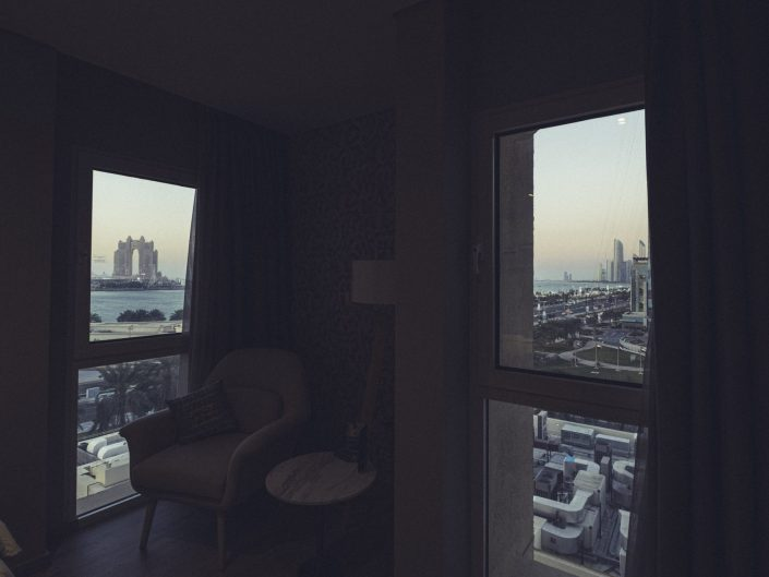 Abu Dhabi-view from hotel window